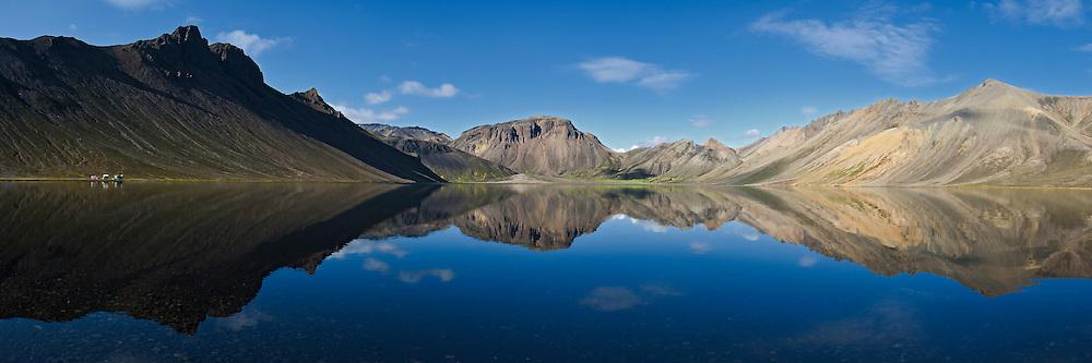 Kirkjufellsvatn, near Landmannalaugar in South-Iceland. Taken early morning, no wind, no nothing.