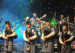 Piping Success..... Members of the Clew Bay Pipe Band performing during  at the Town Hall Theatre Westport  where the band played two Sell-out shows over the weekend.<br /> Pic Conor McKeown