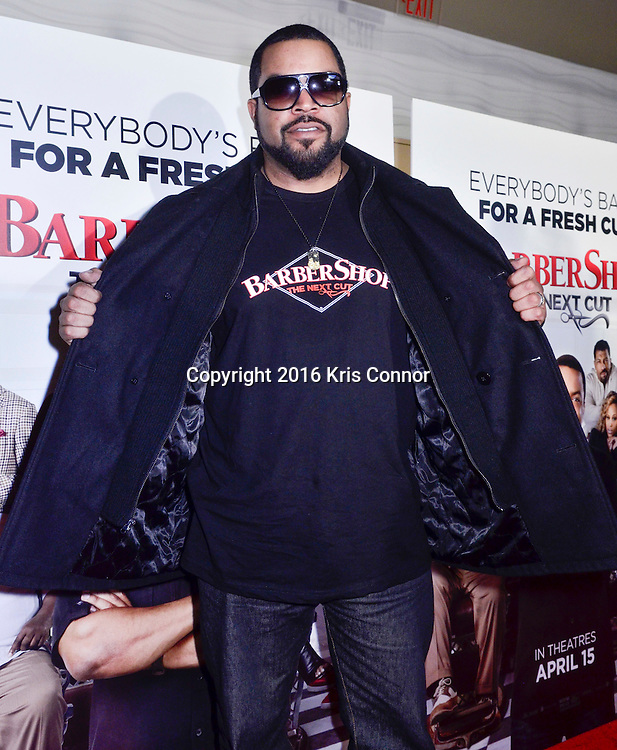 """WASHINGTON, DC - MARCH 16: Ice Cube attends a screening of Warner Bros. Pictures' """"BARBERSHOP: THE NEXT CUT"""" at  AMC Mazza Gallerie on March 16, 2016 in Washington, DC. (Kris Connor/Warner Bros. Pictures)"""