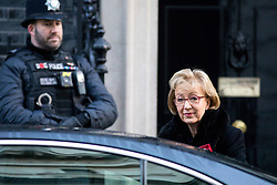 © Licensed to London News Pictures. 30/01/2018. London, UK. Leader of the House of Commons Andrea Leadsom arriving in Downing Street to attend a Cabinet meeting this morning. Photo credit : Tom Nicholson/LNP