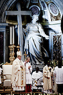 06/01/2015 Vatican City, Pope Francis leads Epiphany mass at St Peter's Basilica