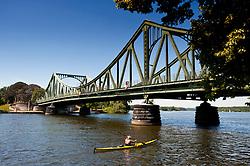 Historic Glienicke Bridge outside Potsdam in Germany