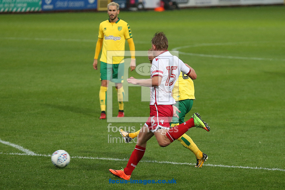 Alex Pritchard of Norwich scores his sides 2nd goal during the Pre-season Friendly match at the Lamex Stadium, Stevenage<br /> Picture by Paul Chesterton/Focus Images Ltd +44 7904 640267<br /> 11/07/2017