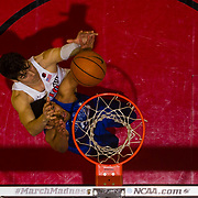 03 February 2018: The San Diego State Aztecs look to rebound after a couple losses against Air Force Saturday night. San Diego State Aztecs forward Max Montana (10) battles an Air Force Falcons defender for a rebound in the second half. The Aztecs beat the Falcons 81-50 at Viejas Arena.<br /> More game action at www.sdsuaztecphotos.com