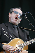 Elvis Costello performs at Bonnaroo 2006.<br /> Photo by Bryan Rinnert<br /> June 17, 2006; Manchester, TN.  2006 Bonnaroo Music Festival.