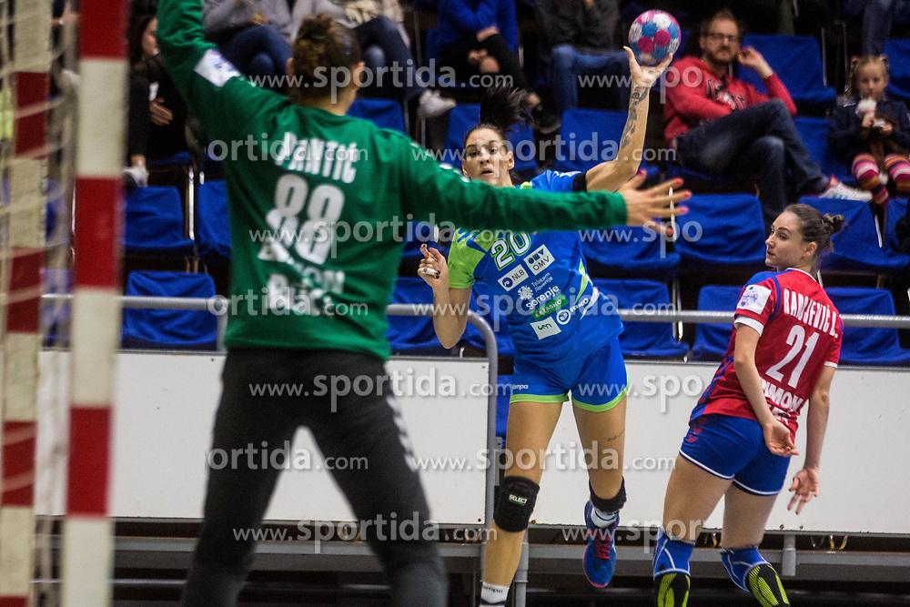 Alja Koren of Slovenia during friendly game between national teams of Slovenia and Serbia on 29th of September, Celje, Slovenija 2018