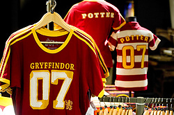 © Licensed to London News Pictures 27/02/2011 London, UK. .Gryffindor Quidditch strip in the gift shop at The Warner Brothers Studio Tour, Leavesden, Herts where all 8 Harry Potter movies were made and opens to the public this week..Photo credit : Simon Jacobs/LNP