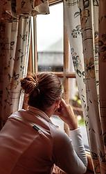 THEMENBILD - eine Frau blickt aus dem Fenster. Die bewirtschaftete Alm, wo rund 800 Schafe und 55 Milchkühe im Sommer sind, besteht seit dem Jahre 1779 und wird von der Familie Aberger Dick geführt, Sie liegt unmittelbar bei den Kapruner Hochgebirgsstauseen, aufgenommen am 16. Juni 2017, Fürthermoar Alm, Kaprun, Österreich // a women looking outside the window. The Fuerthermoar Alm, where around 800 sheep and 55 dairy cows are in summer and is directly next to the Kaprun Hochgebirgsausauseen. The Mountain Hut exists since 1779 and is owned by the family Aberger Dick, taken on 2017/06/16, Kaprun, Austria. EXPA Pictures © 2017, PhotoCredit: EXPA/ JFK