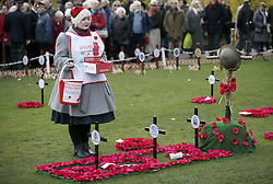 A two minute silence is observed in Princes Street Gardens, Edinburgh, to mark Armistice Day, the anniversary of the end of the First World War.