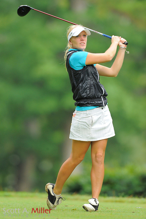 Jutta Degerman in action during the LPGA Futures Tour Eagle Classic at the Richmond Country Club on Aug. 13, 2011 in Richmond, Va...© 2011 Scott A. Miller