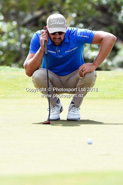 Daniel Pearce (NZL)<br /> NZ Rebel Sports Masters, Wainui Golf Club, Wainui, Auckland, New Zealand. 14 January 2018. &copy; Copyright Image: Marc Shannon / www.photosport.nz.