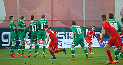 SOFIA, BULGARIA - Wednesday, November 26, 2014: Liverpool's Harry Wilson in action against PFC Ludogorets Razgrad during the UEFA Youth League Group B match at the Georgi Asparuhov Stadium. (Pic by David Rawcliffe/Propaganda)