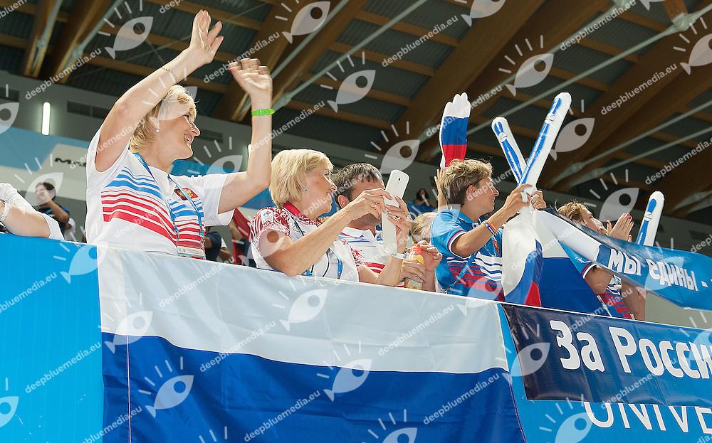 russian supporters<br /> 27th Summer Universiade <br /> 5 - 17 July 2013 Kazan Tatarstan Russia<br /> Day 09 Swimming finals<br /> Photo G. Scala/Insidefoto/Deepbluemedia.eu