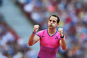Poland, Warsaw - 2017 August 15: Renaud Lavillenie from France competes in men&rsquo;s pole vault during Memorial of Kamila Skolimowska at Stadion PGE Narodowy on August 15, 2017 in Warsaw, Poland.<br /> <br /> Mandatory credit:<br /> Photo by &copy; Adam Nurkiewicz<br /> <br /> Adam Nurkiewicz declares that he has no rights to the image of people at the photographs of his authorship.<br /> <br /> Picture also available in RAW (NEF) or TIFF format on special request.<br /> <br /> Any editorial, commercial or promotional use requires written permission from the author of image.