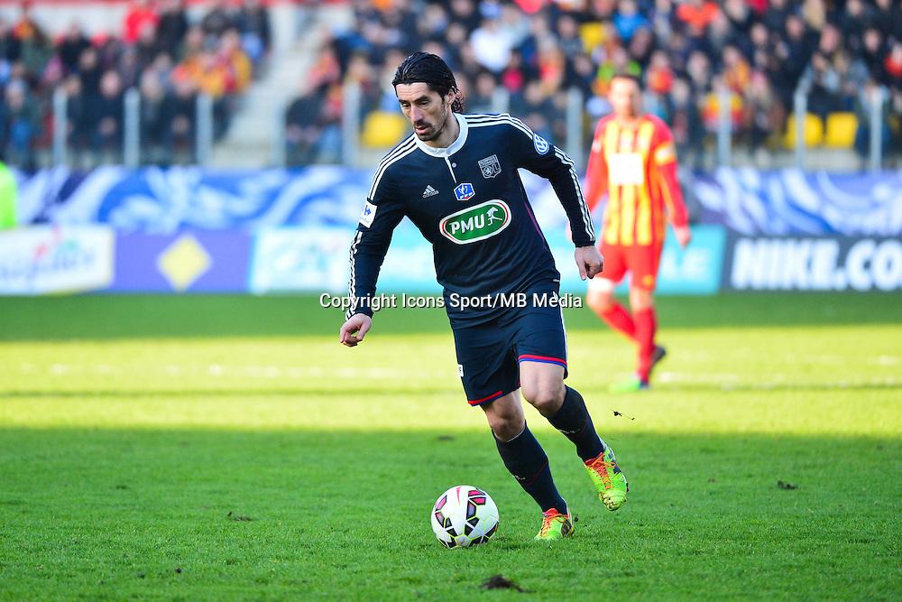 Milan BISEVAC - 04.01.2014 - Lens / Lyon - Coupe de France<br />Photo : Dave Winter / Icon Sport