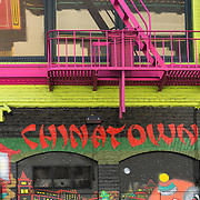 Colourful mural in San Francisco Chinatown