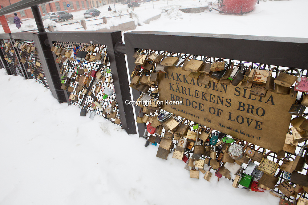 bridge of love in Helsinki