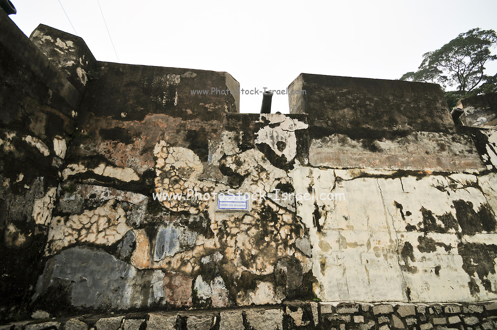 Asia, Southeast, People's Republic of China, Macau Outer wall of Macau Fortress