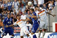 Fotball<br /> Kvalifisering Europe League<br /> 06.08.2009<br /> Gent v Roma<br /> Foto: Photonews/Digitalsport<br /> NORWAY ONLY<br /> <br /> ERLEND HANSTVEIT - PIZARRO - ANDREOLLI