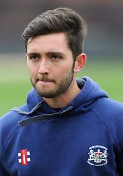 Gloucestershire's Matt Taylor - Photo mandatory by-line: Harry Trump/JMP - Mobile: 07966 386802 - 30/03/15 - SPORT - CRICKET - Pre Season Fixture - T20 - Somerset v Gloucestershire - The County Ground, Somerset, England.