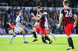 Chris Lines of Bristol Rovers challenges for the ball with Richard Smallwood of Blackburn Rovers - Mandatory by-line: Dougie Allward/JMP - 14/04/2018 - FOOTBALL - Memorial Stadium - Bristol, England - Bristol Rovers v Blackburn Rovers - Sky Bet League One