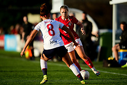 Poppy Pattinson of Bristol City is marked by Jade Bailey of Liverpool Women - Mandatory by-line: Ryan Hiscott/JMP - 19/01/2020 - FOOTBALL - Stoke Gifford Stadium - Bristol, England - Bristol City Women v Liverpool Women - Barclays FA Women's Super League