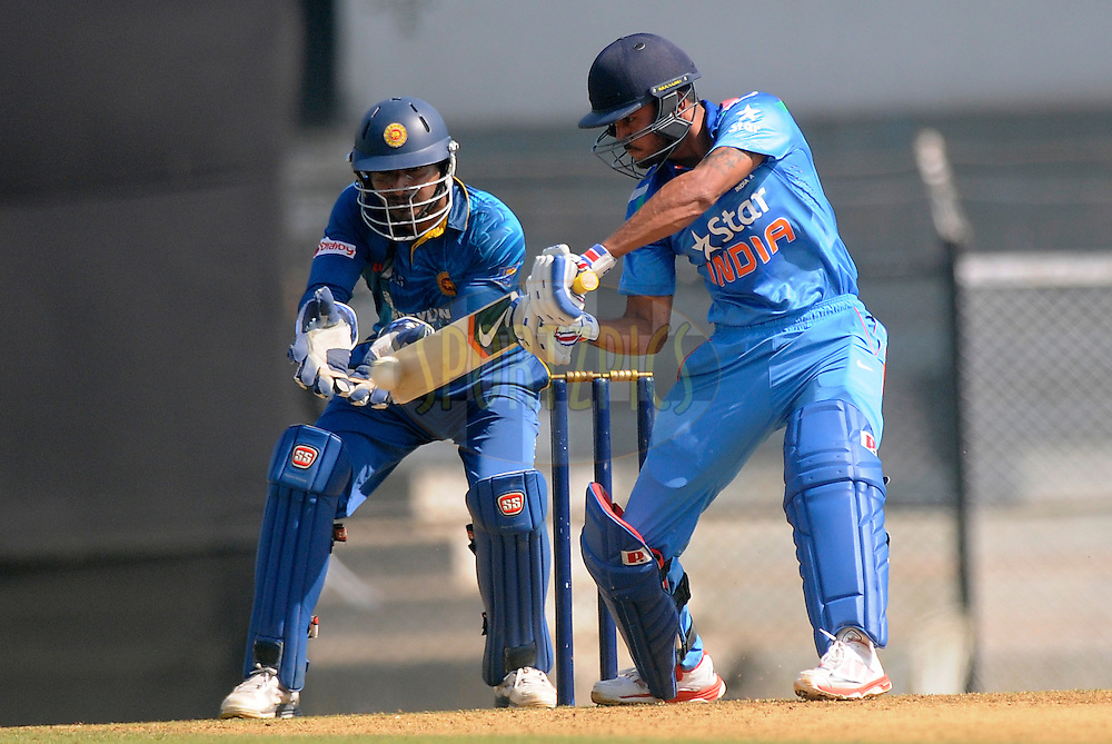 Manish Pandey of India bats during the practice match between India A and Sri Lanka held at the CCI Stadium, Mumbai,  India on the 30th October 2014<br /> <br /> Photo by:  Pal Pillai/ Sportzpics/ BCCI