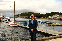 Ben macpherson minister for Migration  North Pier Oban new pontooons . on the ministers visit to      Argyll and Bute  picture kevin mclynn