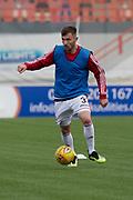 29th September 2018, Hope CBD Stadium, Hamilton, Scotland; Ladbrokes Premiership football, Hamilton versus Dundee; Scott McMann of Hamilton Academical