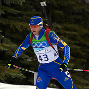 Winter Olympics, Vancouver, 2010. Anna Carin Olofsson-Zidek, Sweden, in action during the Women's 7.5 KM Sprint Biathlon at The Whistler Olympic Park, Whistler, during the Vancouver  Winter Olympics. 13th February 2010. Photo Tim Clayton