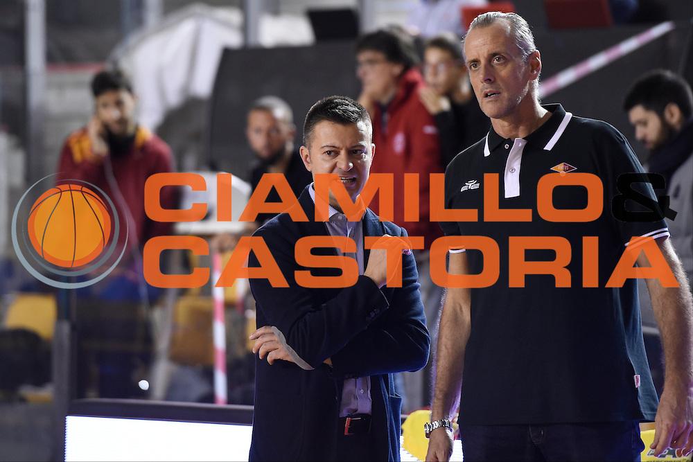 Simone Giofrè Riccardo Esposito<br /> Unicusano Roma - Benacquista Assicurazioni Latina<br /> Campionato Basket LNP 2016/2017<br /> Roma 06/11/2016<br /> Foto Ciamillo-Castoria