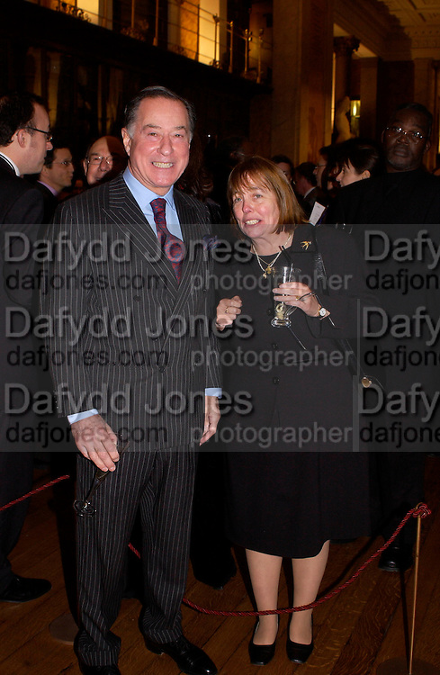 John Ritblat, British Museum 250th Anniversary party, 15 December 2003. © Copyright Photograph by Dafydd Jones 66 Stockwell Park Rd. London SW9 0DA Tel 020 7733 0108 www.dafjones.com