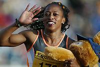 Track and Field, 28. june 2002, Golden League - Bislett Games, Oslo, Norway.  Gail Devers, 100 metres hurdles.