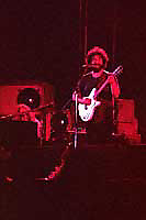 Jerry Garcia playing and singing. The Grateful Dead perform Live at Roosevelt Stadium Jersey City New Jersey on 4 August 1976