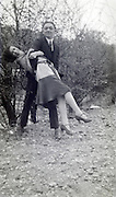 young female with man having fun 1920s