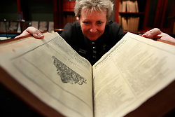 © under license to London News Pictures. Shakespeare First Folio on display at Sotheby's London on 06/12/10 ahead os Sale of Magnificent Books, Manuscripts and Drawings due to take place on 7th Dec 2010, from the collection of Frederick, 2nd Lord Hesketh, The Property of Trustees of the 2nd Baron Hesketh's Will Trust. Photo credit should read: Olivia Harris/ London News Pictures