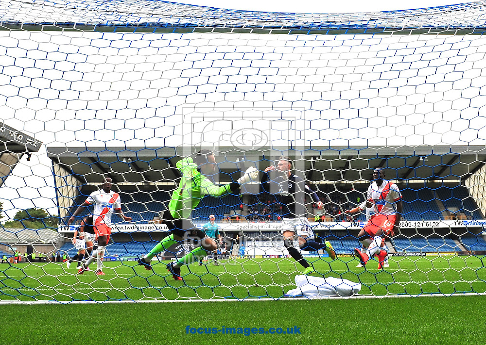 Scott Malone of Millwall celebrates scoring to make it 2-0 during the Sky Bet Championship match at The Den, London<br /> Picture by Alan Stanford/Focus Images Ltd +44 7915 056117<br /> 30/08/2014