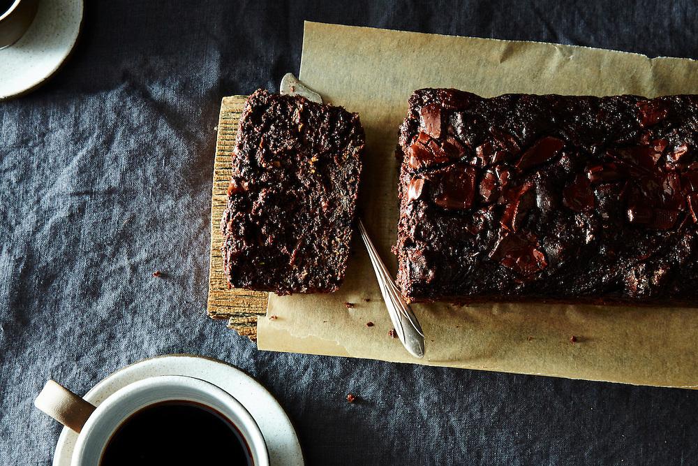 Dark Chocolate Walnut Zucchini Bread
