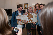 ROLF HARRIS, Opening of Blood & Salt Water, Viktor Wynd Fine Art Ltd <br /> Mare Street,London and  various other Galleries Vyner St. 1 October 2009.