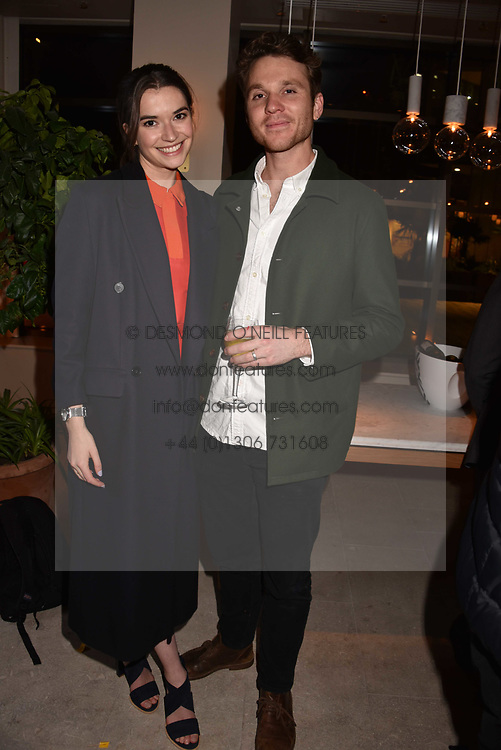 Actress Margaret Clunie and her husband Tom Gibson at the launch of Fiume at Battersea Power Station, Battersea, London England. 16 November 2017.<br /> Photo by Dominic O'Neill/SilverHub 0203 174 1069 sales@silverhubmedia.com
