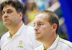 Branko Cveticanin and Matej Avanzo during friendly basketball match between National teams of Slovenia and Georgia in day 2 of Adecco Cup 2014, on July 25, 2014 in Dvorana OS 1, Murska Sobota, Slovenia. Photo by Vid Ponikvar / Sportida.com
