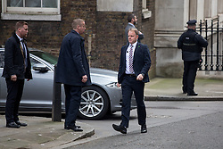 © Licensed to London News Pictures. 06/02/2017. London, UK. Security in Downing Street as British Prime Minister Theresa May meets Israeli Prime Minister Benjamin Netanyahu for a meeting. Photo credit : Tom Nicholson/LNP