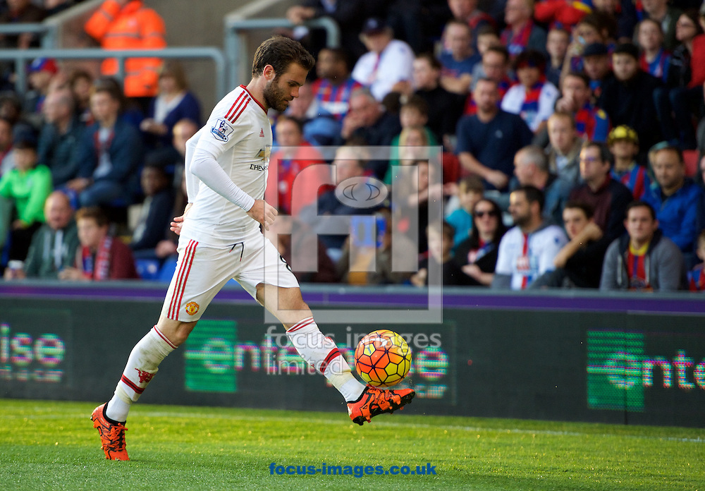 Juan Mata of Manchester United during the Barclays Premier League match at Selhurst Park, London<br /> Picture by Alan Stanford/Focus Images Ltd +44 7915 056117<br /> 31/10/2015