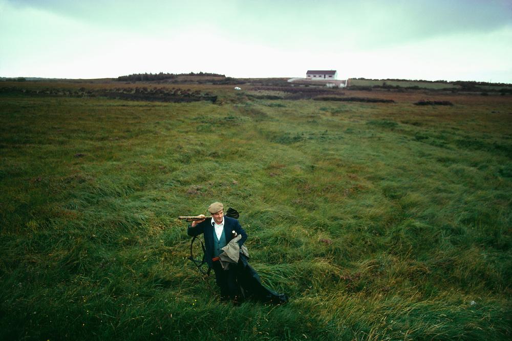 Peat digger, Ireland