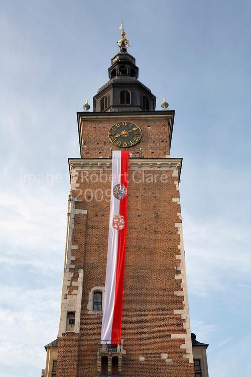 Poland Krakow Cracow Town Hall Clock Tower Rynek Glowny