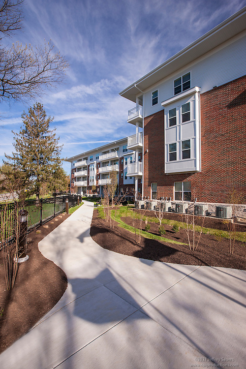 Burwood Garden Apartments in Baltimore Maryland exterior image by Jeffrey Sauers of Commercial Photographics, Architectural Photo Artistry in Washington DC, Virginia to Florida and PA to New England