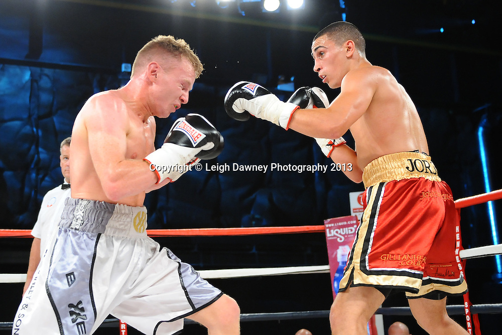Jordan Gill defeats Dan Carr in Super Featherweight contest on Saturday 14th September 2013 at the Magna Centre, Rotherham. Hennessy Sports. Self billing applies. © Credit: Leigh Dawney Photography.