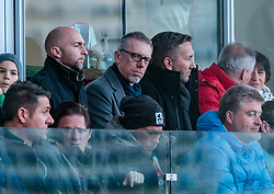 04.03.2018, Red Bull Arena, Salzburg, AUT, 1. FBL, FC Red Bull Salzburg vs SK Rapid Wien, 25. Runde, im Bild v.l.: Trainer Peter Stöger (Borussia Dortmund), Co Trainer Manfred Schmid (Borussia Dortmund) // during Austrian Football Bundesliga 25th round Match between FC Red Bull Salzburg and SK Rapid Wien at the Red Bull Arena, Salzburg, Austria on 2018/03/04. EXPA Pictures © 2018, PhotoCredit: EXPA/ JFK