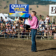 Jeff Marn gives his opening invocation at the Darby MT Elite Proffesionals Bull Riding Event July 7th 2017.  Photo by Josh Homer/Burning Ember Photography.  Photo credit must be given on all uses.