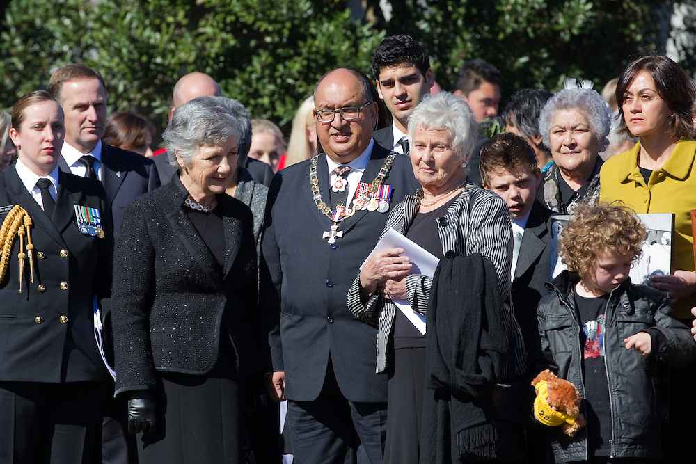 Lady Susan Satyanand, left, Governor-General Sir Anand Satyanand and Lady Beverley Reeves in the procession at the state funeral of former Governer General Sir Paul Reeves at the Anglican Cathedral of the Holy Trinity, Auckland, New Zealand, Thursday, August 18, 2011.   Credit:SNPA / David Rowland